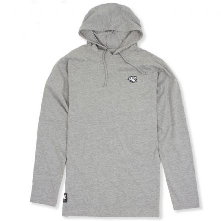 Senlak Hooded Longsleeve T-Shirt - Grey